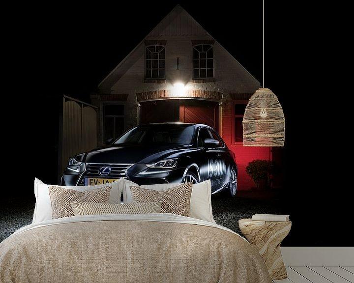 Sfeerimpressie behang: Lexus IS300h van Thomas Boudewijn