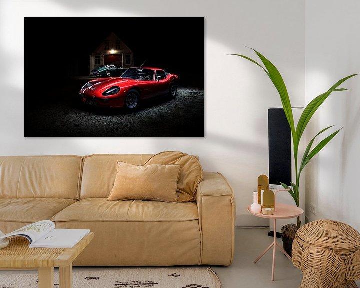Sfeerimpressie: 1970 Marcos Adams GT - 1965 Marcos 1800 GT Coupe van Thomas Boudewijn