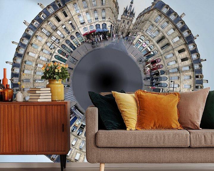 Beispiel fototapete: Bordeaux Little Planet Quai Richelieu von Panorama Streetline