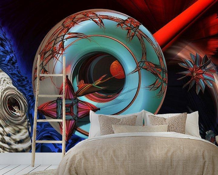 Sfeerimpressie behang: No time for infinity van Holger Debek
