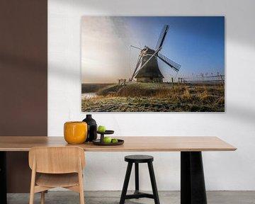 Molen in Marrum - Friesland (Fryslan) von Tieme Snijders