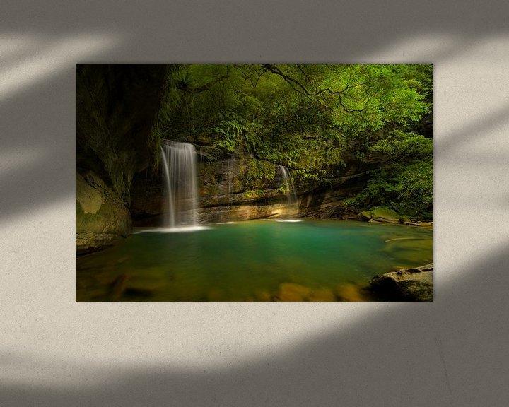 Sfeerimpressie: Wanggu waterval in noord Taiwan van Jos Pannekoek