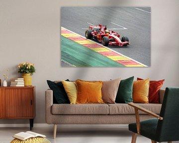 Ferrari F1 F2008 op circuit Spa Francorchamps von Tim Vlielander