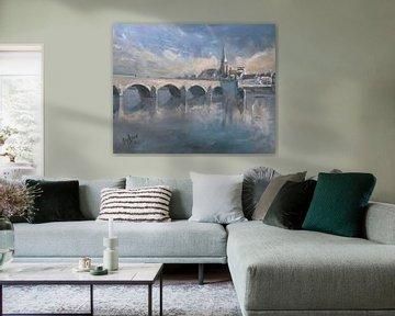 Winterlicht Sankt-Servatius-Brücke Maastricht