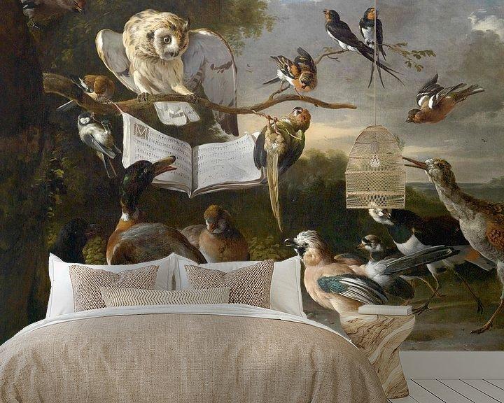Sfeerimpressie behang: Vogelconcert, Melchior d'Hondecoeter