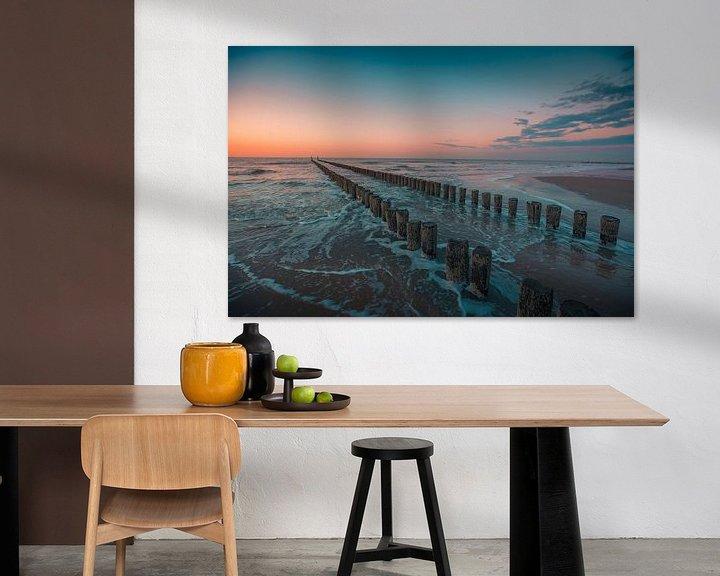Sfeerimpressie: Domburg zonsondergang paalhoofden van Andy Troy