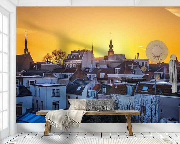 Sfeerimpressie behang: Golden Utrecht van Sander Peters Fotografie