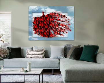 Artistic Red Peacock von Yvon van der Wijk
