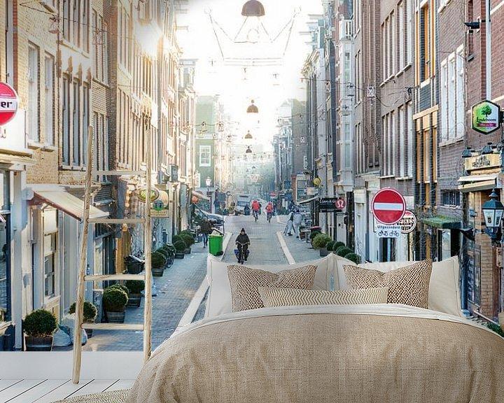 Sfeerimpressie behang: Prinsenstraat Amsterdam van Wesley Flaman