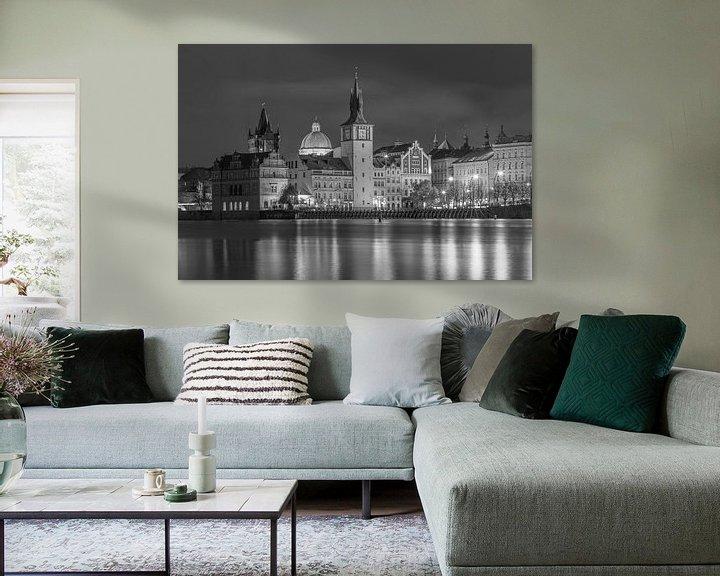 Sfeerimpressie: De oude stad van Praag in zwart-wit, Tsjechië  - 1 van Tux Photography