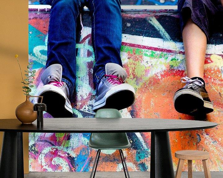 Sfeerimpressie behang: Forever friends van Anna Green