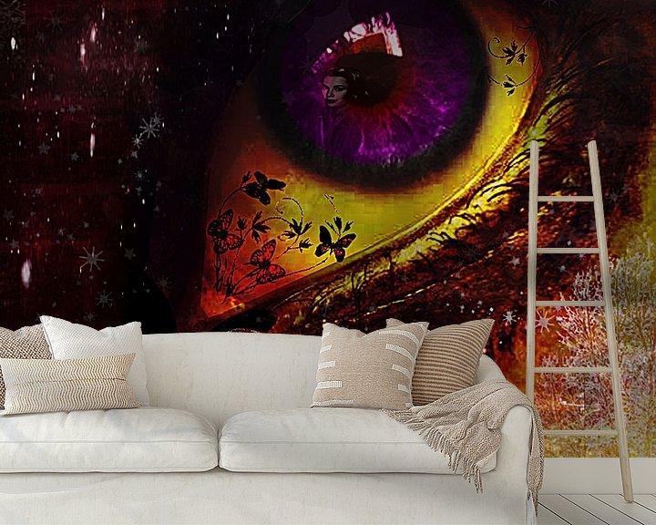 Beispiel fototapete: Fairy_night_eye_ von Yvon van der Wijk