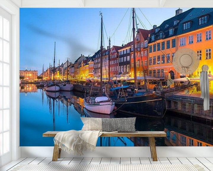 Beispiel fototapete: Nyhavn Kopenhagen, Morgendämmerung von Tom Uhlenberg