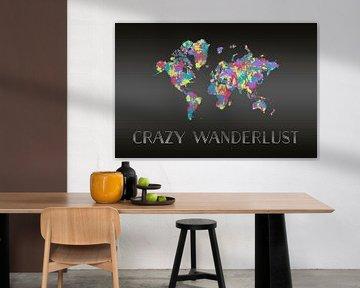 Grafikkunst CRAZY WANDERLUST | Farbspritzer van Melanie Viola