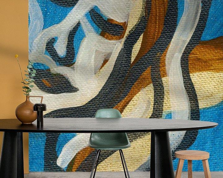Sfeerimpressie behang: Eenvoud van ART Eva Maria