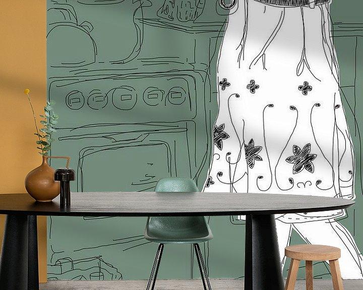Sfeerimpressie behang: Keuken van Kris Stuurop