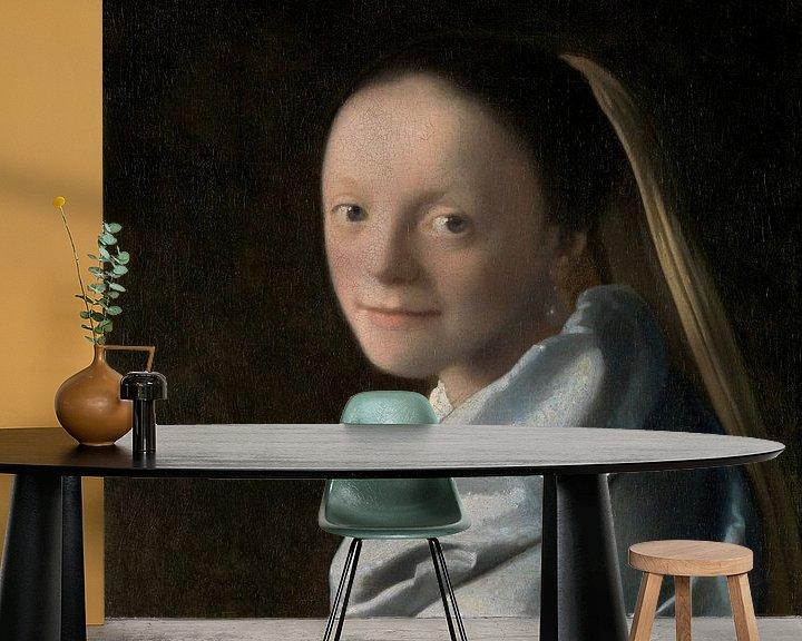 Sfeerimpressie behang: Meisjeskopje, Johannes Vermeer