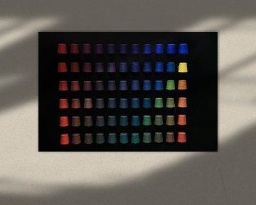 garen op kleur gesorteerd van Peter van Mierlo