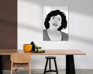 HAPPY WOMAN BW-2 van Pia Schneider