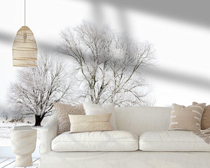 Sfeerimpressie behang: Winter wonderland in de Kollumerwaard van Ron ter Burg
