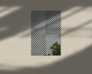 Vierkanten met een boom van Anouk Davidse