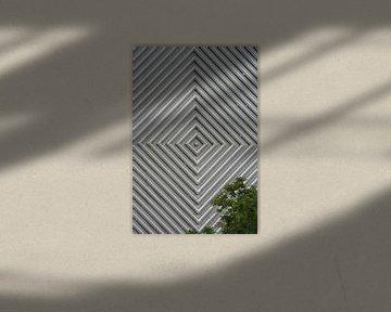 Quadraten mit einem Baum von Anouk Davidse
