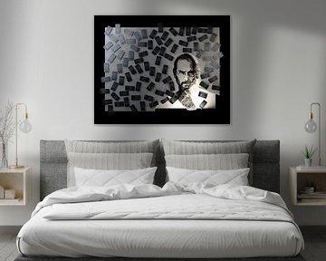Steve Jobs in beton van Mars Ruis
