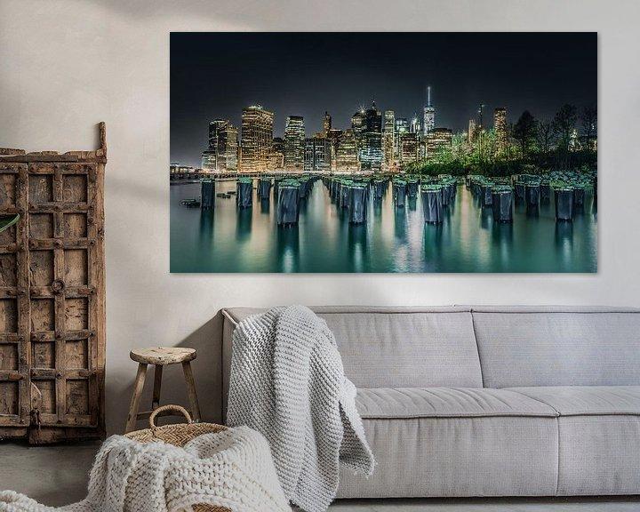 Sfeerimpressie: Kleurrijke skyline van the Big Apple New York van Bert Nijholt