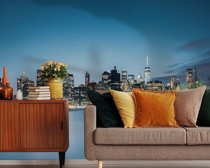 Sfeerimpressie behang: Skyline New York 2 van Bert Nijholt
