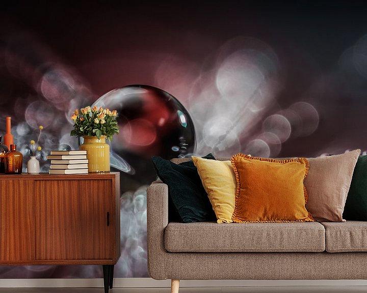 Sfeerimpressie behang: Druppel op een pluisje van Bert Nijholt