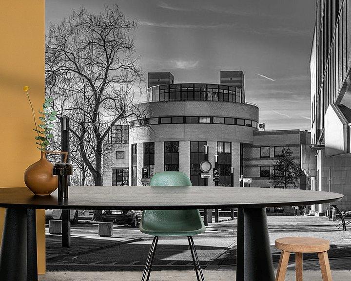 Sfeerimpressie behang: Heerlen, werkplein van Leo Langen