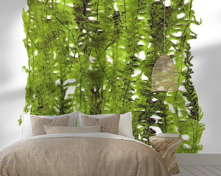 Sfeerimpressie behang: Groene plant bladeren van ART Eva Maria