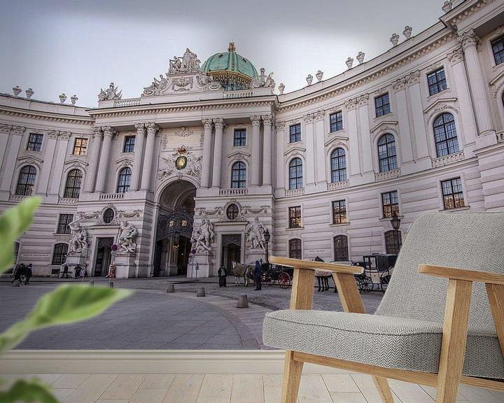 Sfeerimpressie behang: Paardenkoets in Wenen van Ronne Vinkx