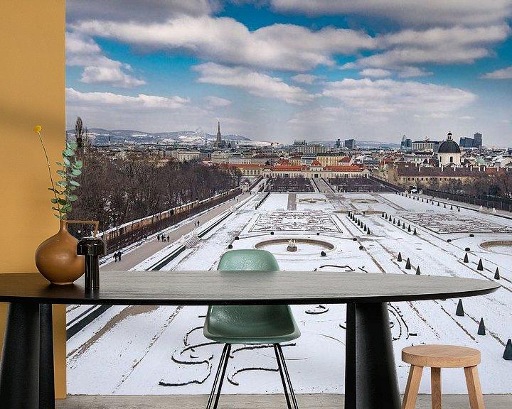 Sfeerimpressie behang: Lager Belvedere en tuin van Ronne Vinkx