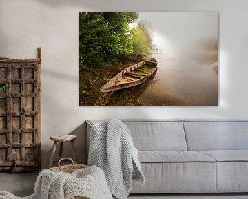 Mistige ochtend lands de Dordogne van Halma Fotografie