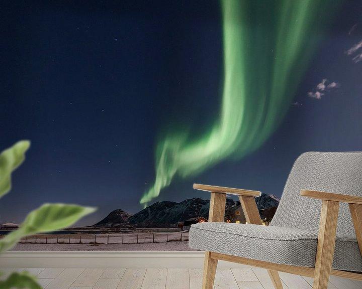 Beispiel fototapete: Noorderlicht over de Lofoten von Rob IJsselstein