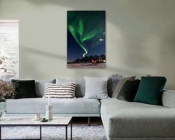 Noorderlicht over de Lofoten