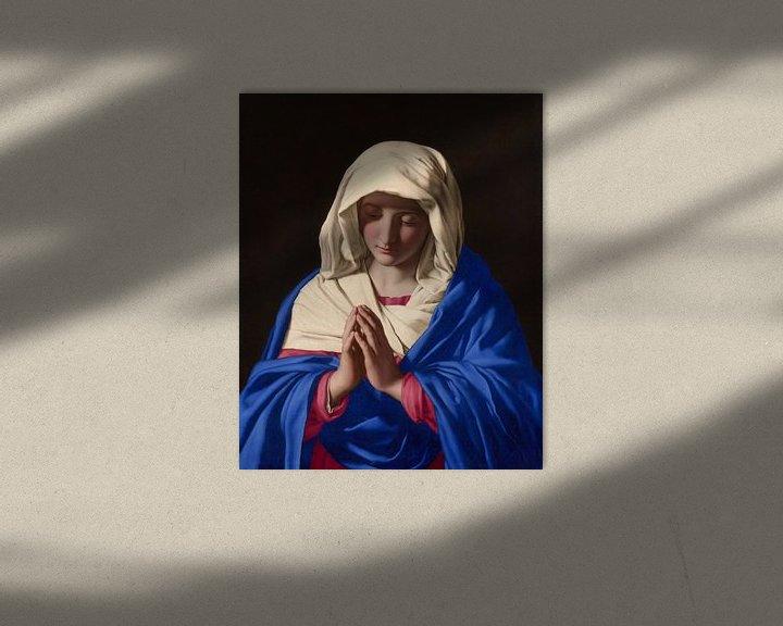 Sfeerimpressie: De maagd Maria, Giovanni Battista Salvi da Sassoferrato