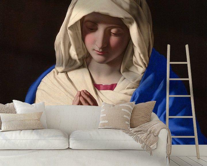 Sfeerimpressie behang: De maagd Maria, Giovanni Battista Salvi da Sassoferrato