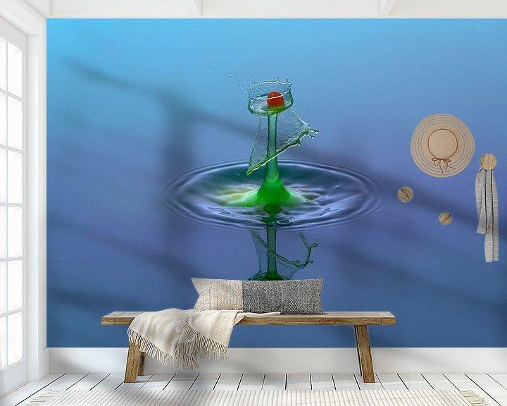 Sfeerimpressie behang: waterdruppel van Lisa Antoinette Photography