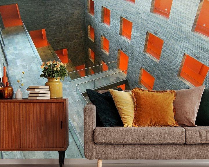 Sfeerimpressie behang: Mediacentrum Hilversum van Jim van Iterson