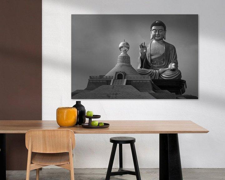Sfeerimpressie: Buddha Memorial center in Taiwan van Jos Pannekoek
