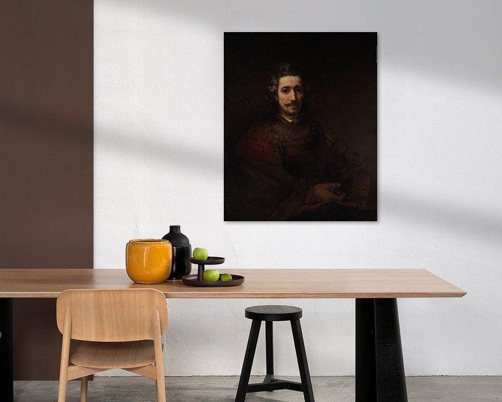 Beispiel: Mann mit einem Vergrößerungsglas, Rembrandt
