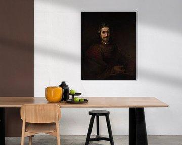 Mann mit einem Vergrößerungsglas, Rembrandt