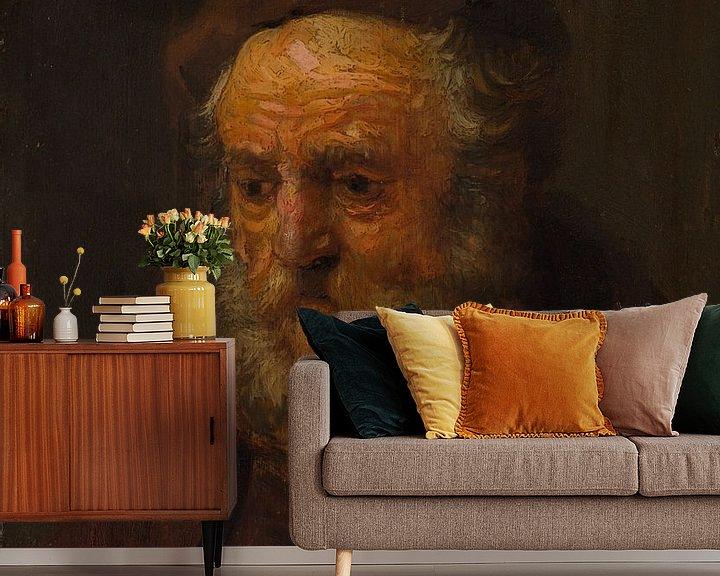 Beispiel fototapete: Studie Kopf eines alten Mannes, Stil von Rembrandt