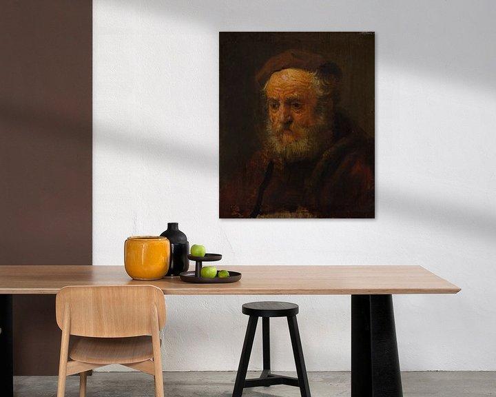 Beispiel: Studie Kopf eines alten Mannes, Stil von Rembrandt