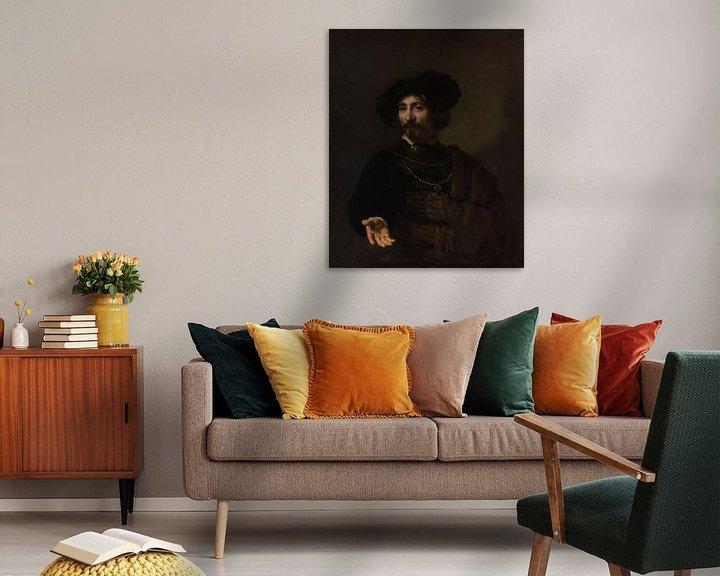 Beispiel: Der Mann mit dem Stahl Gorget, Stil von Rembrandt