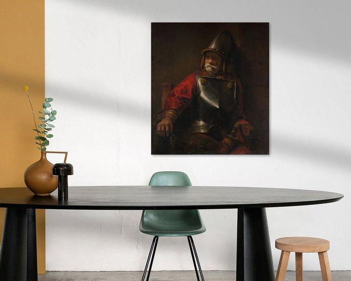 Beispiel: Mann in der Rüstung (Mars?), Stil von Rembrandt
