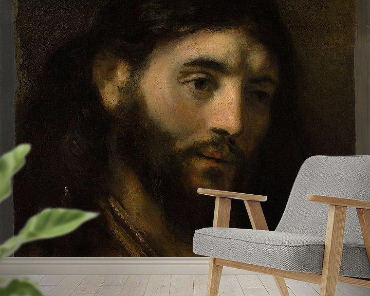 Beispiel fototapete: Haupt Christi, Stil von Rembrandt