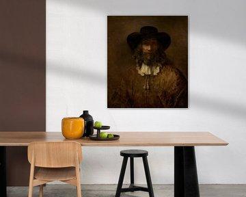 Mann mit einem Bart, Stil von Rembrandt